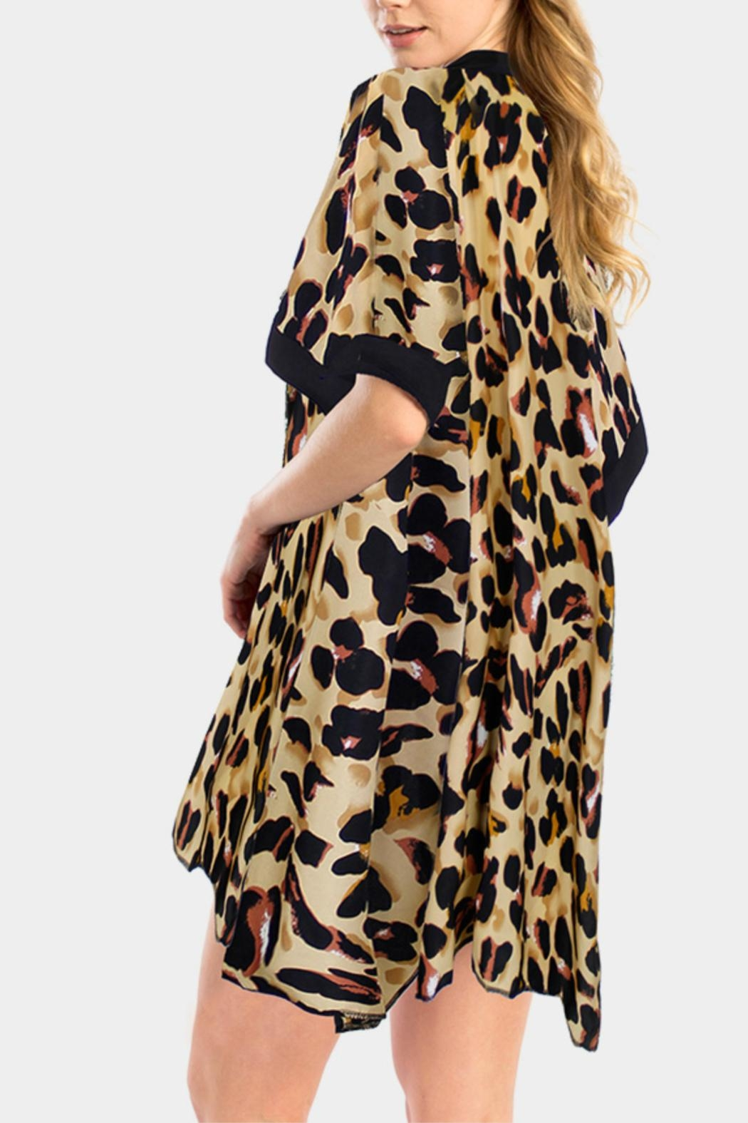 Embellish Leopard Beach Cover Up - Front Cropped Image