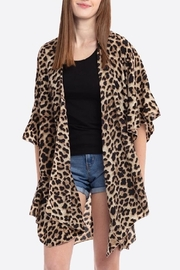 Embellish Leopard Cover Up - Front cropped