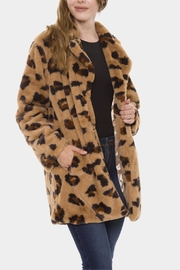 Embellish Leopard Fur Coat - Product Mini Image
