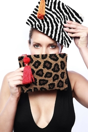 Embellish Leopard Tassel Clutch - Product Mini Image