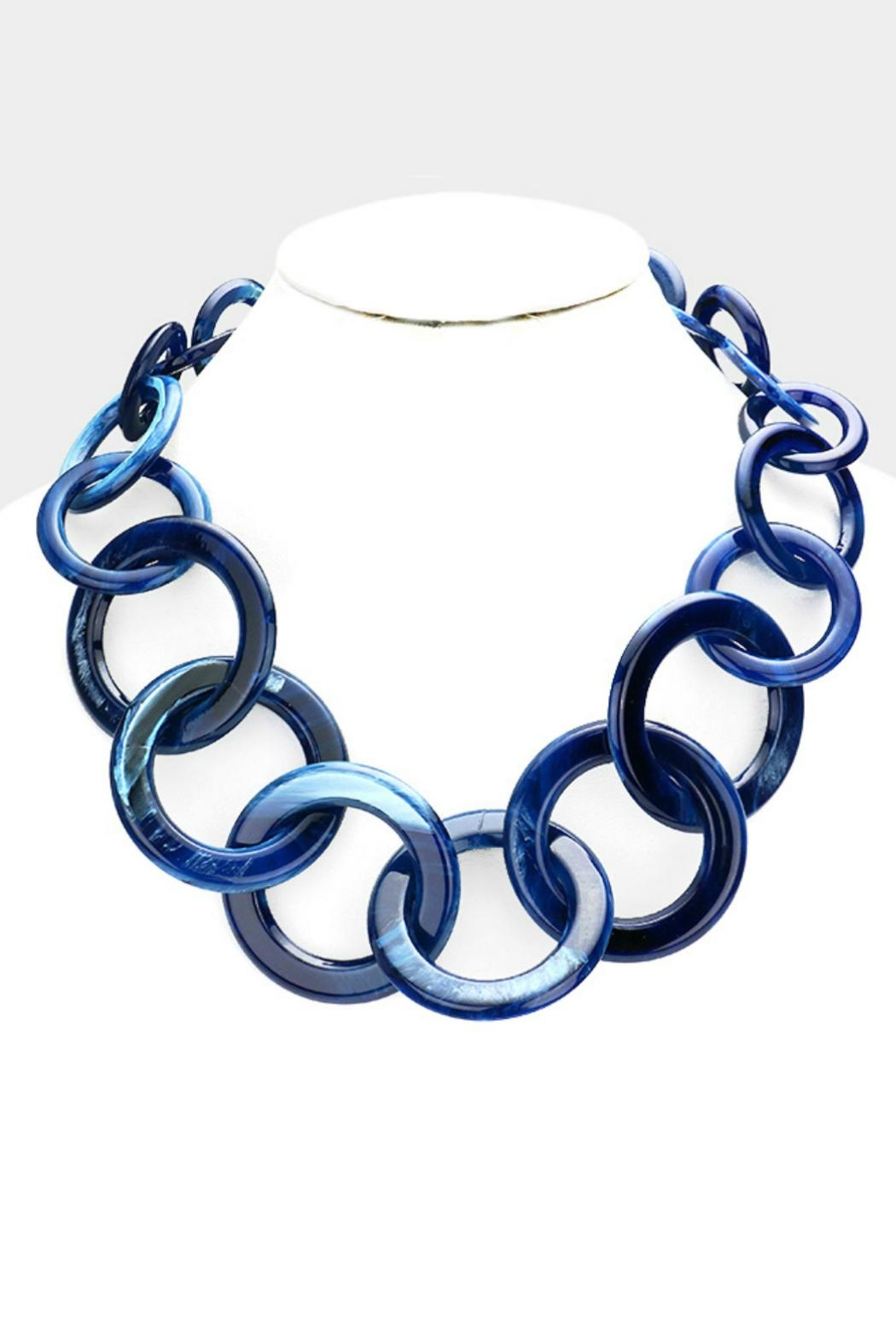 Embellish Link Statement Necklace - Front Cropped Image