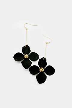 Shoptiques Product: Long Flower Earring