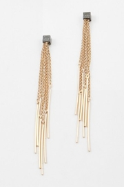 Embellish Long Fringe Earrings - Product Mini Image