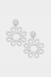 Embellish Loop Flower Earrings - Product Mini Image