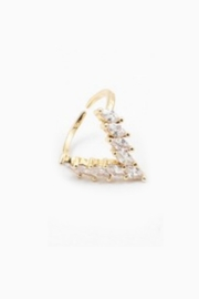 Embellish Marquis V Ring - Front cropped