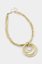 Embellish Matte Circle Necklace - Front full body