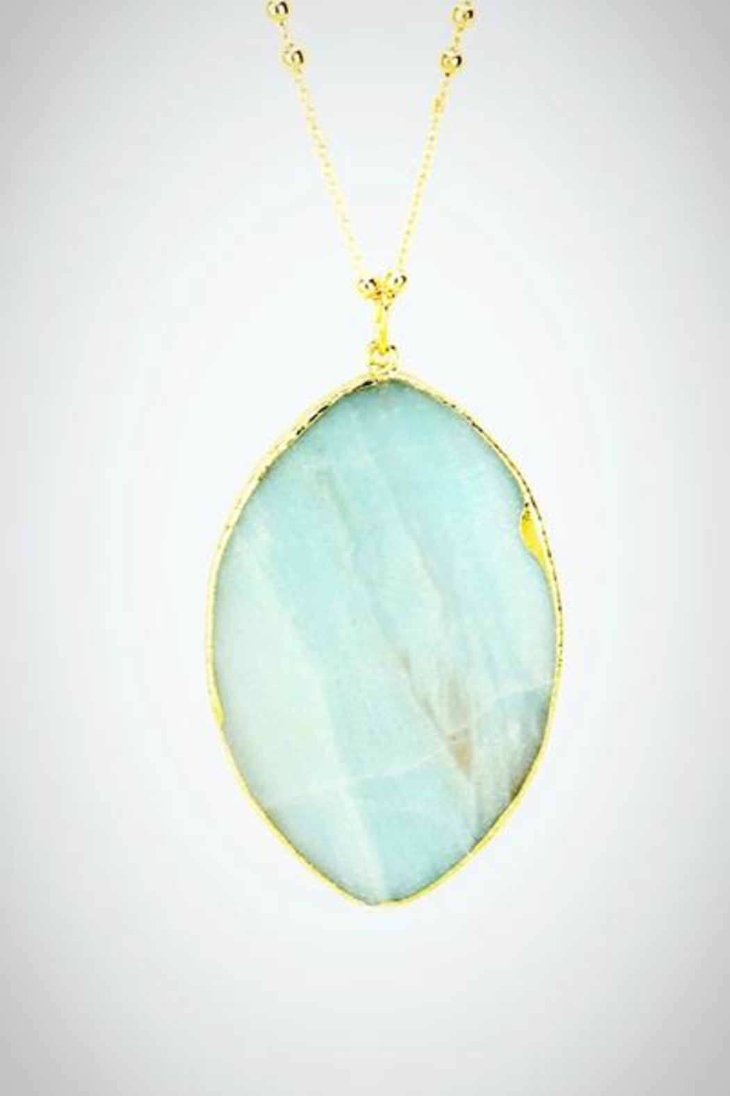 Embellish Mint Semiprecious Necklace - Main Image