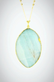 Embellish Mint Semiprecious Necklace - Side cropped