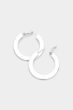 Shoptiques Product: Modern Hoop Earrings