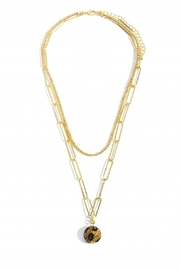 Embellish Leopard Ball  Necklace - Front cropped
