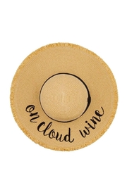 Embellish On Cloud Wine Straw Hat - Front cropped