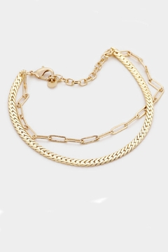 Embellish Oval Link Bracelet - Alternate List Image