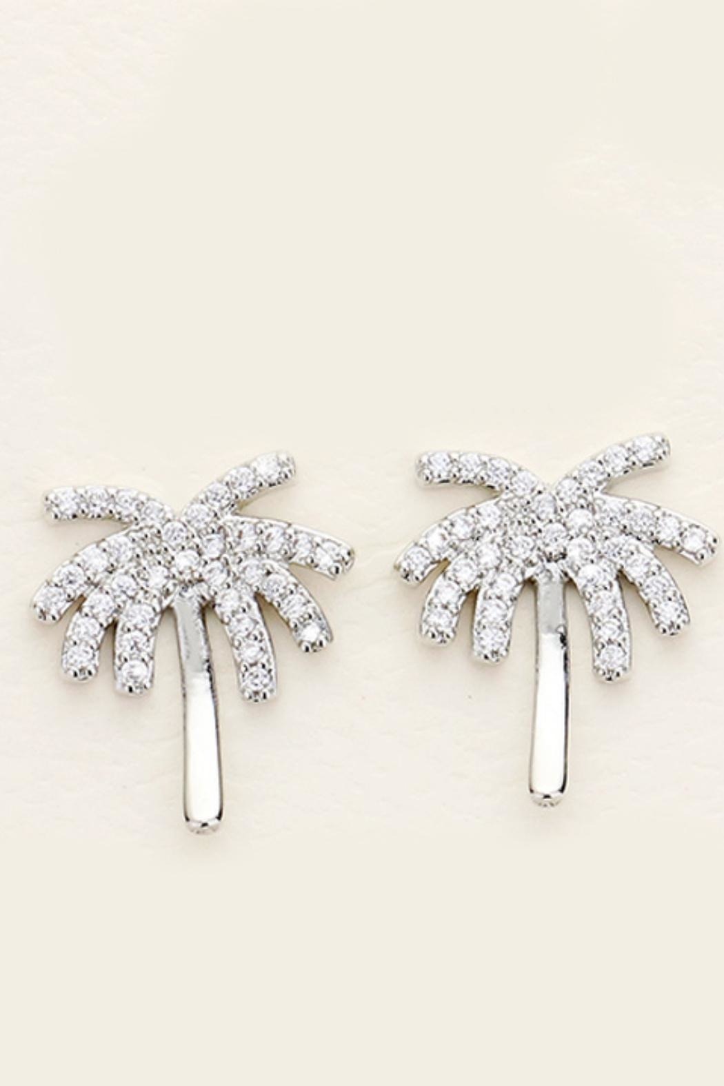 Embellish Palm Tree Earrings - Front Cropped Image