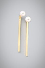 Embellish Pearl Bar Earrings - Product Mini Image