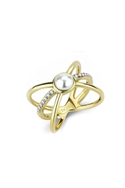 Embellish Pearl Crystal Ring - Product Mini Image