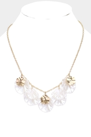 Embellish Pearl Flower Necklace - Product Mini Image