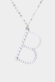 Embellish Pearl Initial Necklace - Product Mini Image