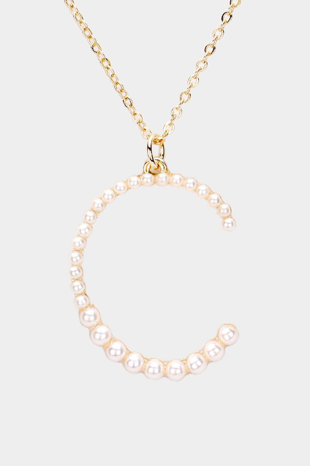 Embellish Pearl Initial Necklaces - Side Cropped Image