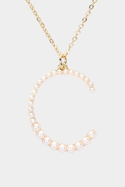 Embellish Pearl Initial Necklaces - Side cropped