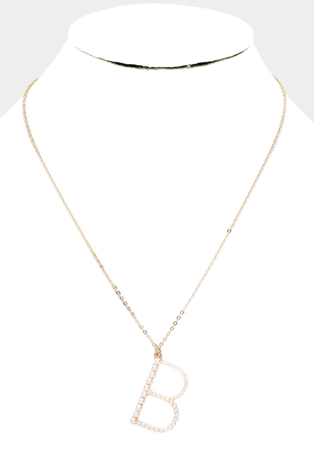 Embellish Pearl Initial Necklaces - Front Full Image