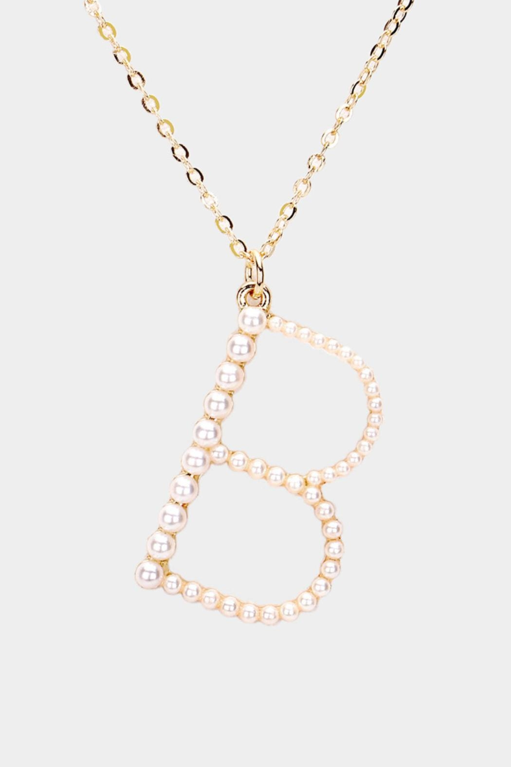 Embellish Pearl Initial Necklaces - Main Image