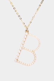 Embellish Pearl Initial Necklaces - Front cropped