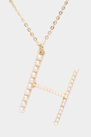 Embellish Pearl Initial Necklaces - Other