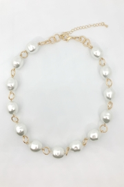 Embellish Pearl Metal Necklace - Product Mini Image