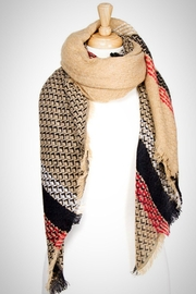 Embellish Plaid Blanket Scarf - Product Mini Image