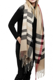 Embellish Plaid Fringe Scarf - Product Mini Image