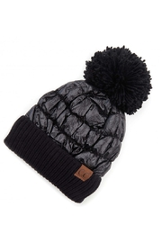 Embellish Puffer Knit Beanie - Product Mini Image