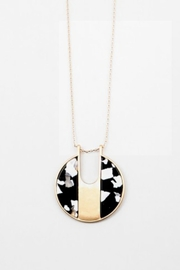 Embellish Resin Black/white Necklace - Front cropped