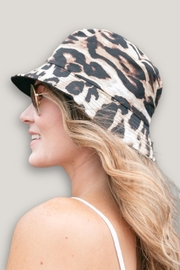 Embellish Reversible Leopard Black Bucket Hat - Product Mini Image