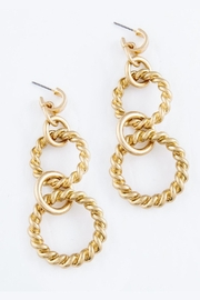 Embellish Ring Twist Earrings - Product Mini Image