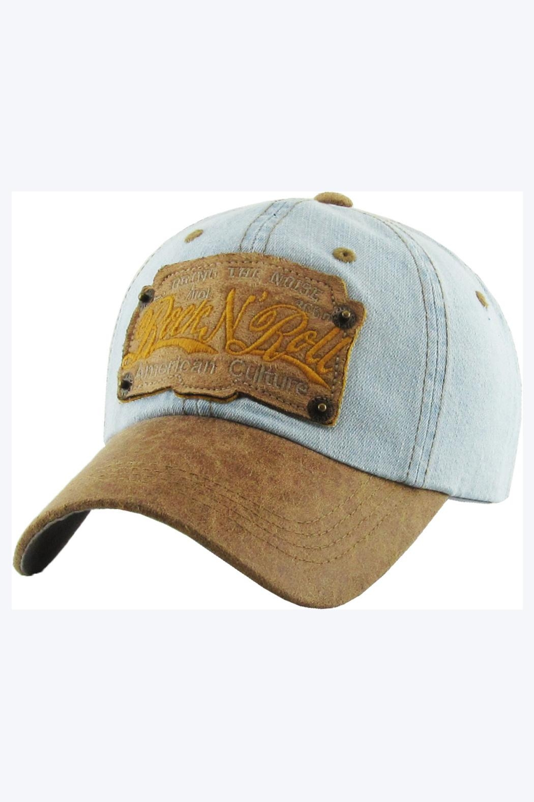 Embellish Rock 'n Roll Up-Cycled Denim Cap - Main Image