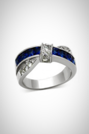 Embellish Sapphire Cubiczirconia Ring - Product Mini Image