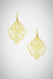 Embellish Metal Filigree Earrings - Product Mini Image