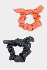Embellish Scrunchies Coral Black - Product Mini Image