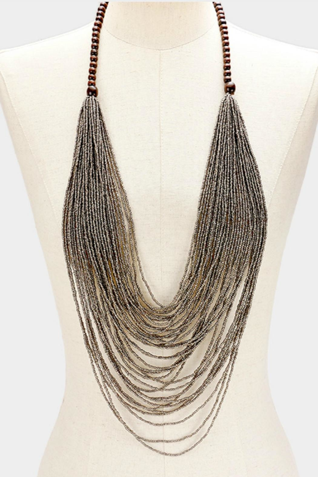 Embellish Seed Bead Necklace - Front Full Image