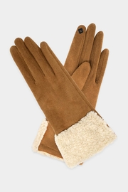 Embellish Shearling Accent Gloves - Product Mini Image