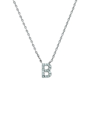 Embellish Silver Initial Necklace - Side cropped