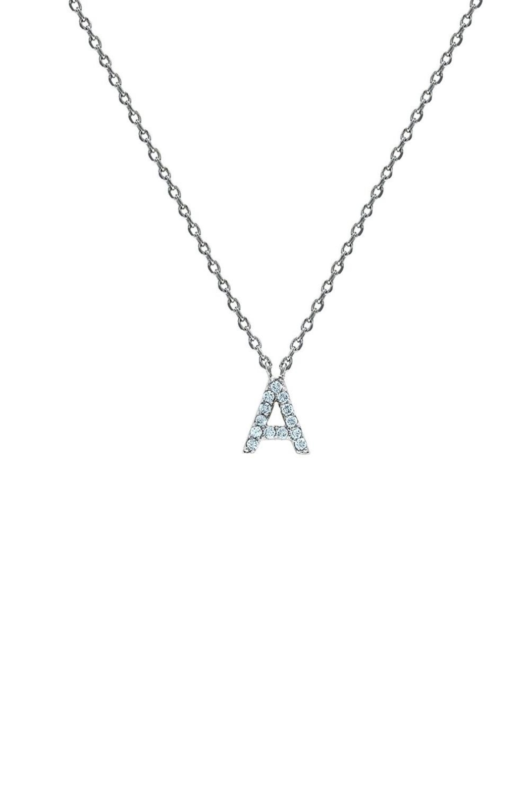Embellish Silver Initial Necklace - Main Image