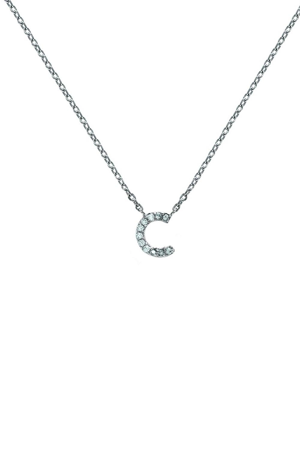 Embellish Silver Initial Necklace - Back Cropped Image