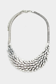 Embellish Silver Feather Necklace - Product Mini Image