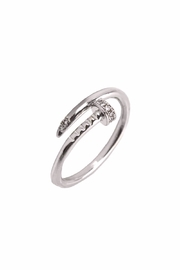 Embellish Silver Nail Ring - Front cropped