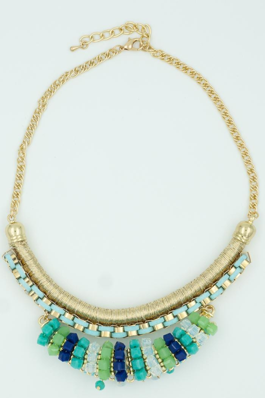 Embellish Turquoise Statement Necklace - Front Cropped Image