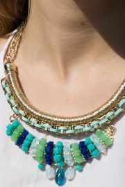 Embellish Turquoise Statement Necklace - Side cropped