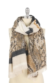 Embellish Snakeskin Striped Scarf - Product Mini Image