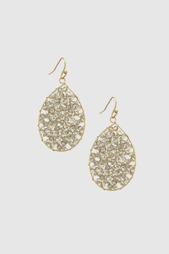 Embellish Sparkle Teardrop Earrings - Alternate List Image