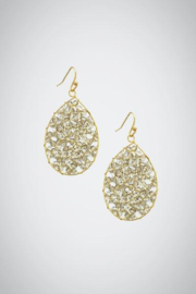Embellish Sparkle Teardrop Earrings - Product Mini Image